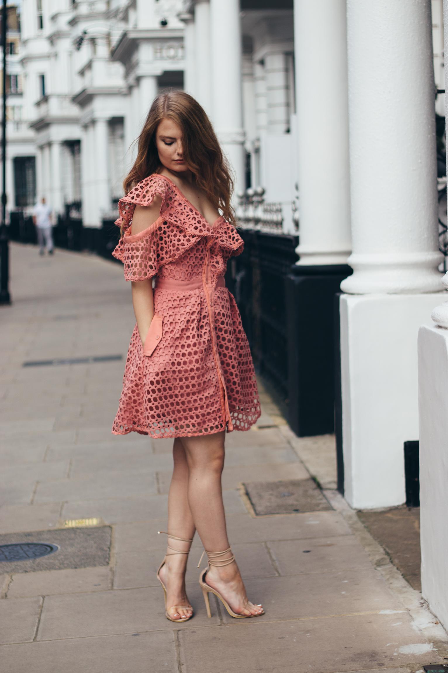 the pink dress from Caris Closet