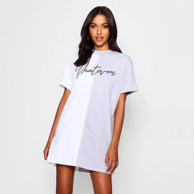 Nina Whatever Colour Block T Shirt Dress